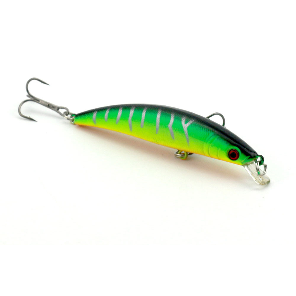 Anzhenji laser minnow fishing lure 9cm 8 5g pesca hooks for Fishing with jigs