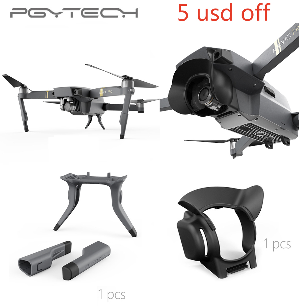 pgytech-extended-landing-gear-leg-support-lens-hood-sun-shade-glare-shield-lens-camera-protector-for-mavic-pro-font-b-drone-b-font-accessorie