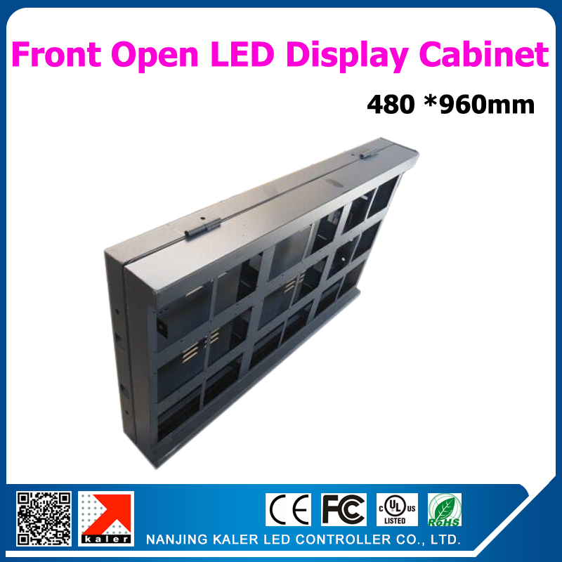 480*960mm Waterproof Led Display Cabinet For P10 160*160mm Led Modules Front-open Led Dsign Cabinet