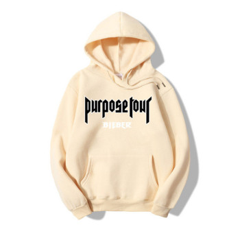 fashion brand autumn and winter 100%cotton Print Sweatshirt Women Men Justin Bieber World Tour  2019 New casual Hip-hop hoodie