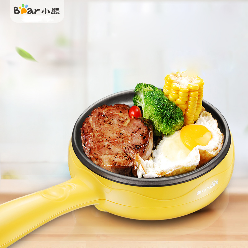 Bear JDQ-C3011 Fried Egg Electric Omelette Anti-sticking Automatic Thermostat Steamed Fried with More Use Non-stick Coating bear multi cooker crepe makers fried eggs for breakfast jdq c3011