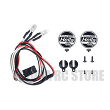 2PCS/4PCS RC Crawer Round LED Light & Cover for 1:10 RC Crawler Traxxas TRX-4 Axial SCX10 Tamiya CC01 D90 TF2 RC Car Parts(China)