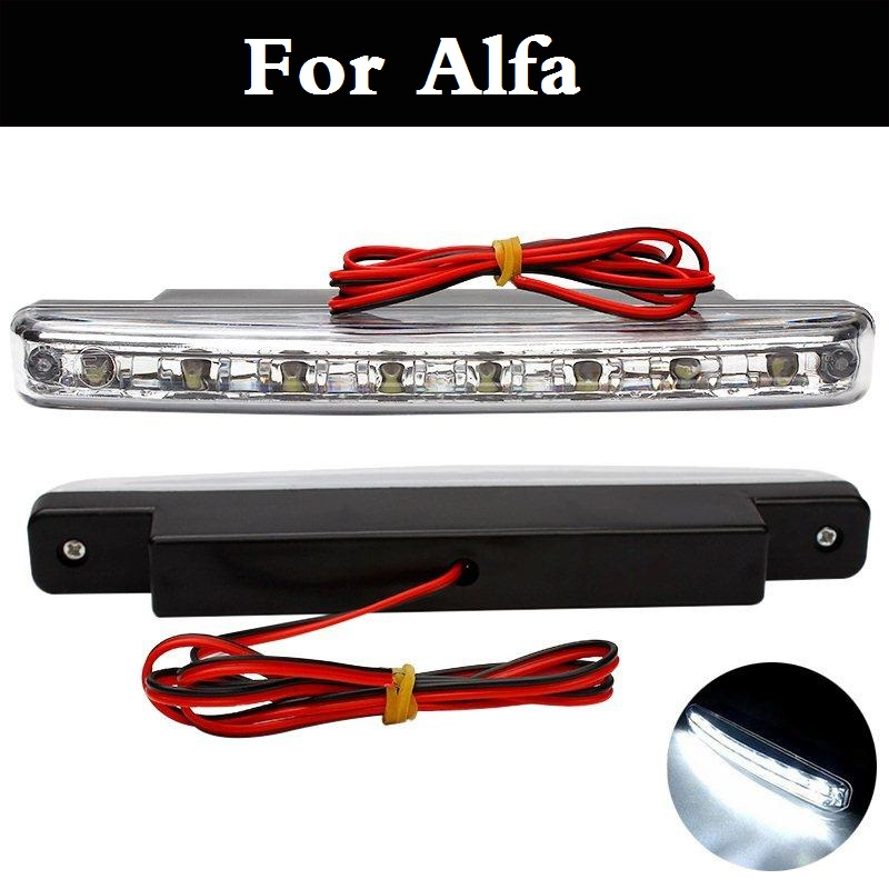 car styling 2017 Vehicle Car style 8LED Daytime Driving Running Light DRL Fog Lamp For Alfa Romeo 147 156 159 166 4C 8C Brera 10x car wheel snow chains for mini cooper r56 r50 r53 f56 f55 r60 r57 for alfa romeo 159 147 156 166 gt mito accessories