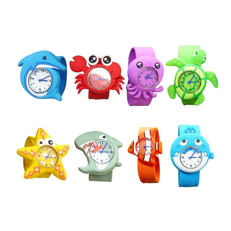 3D Cartoon Ocean Animal Children Watches Fashion Silicone Slap Girls Boys Students Quartz Wristwatches Kids Clock Reloj Relogio