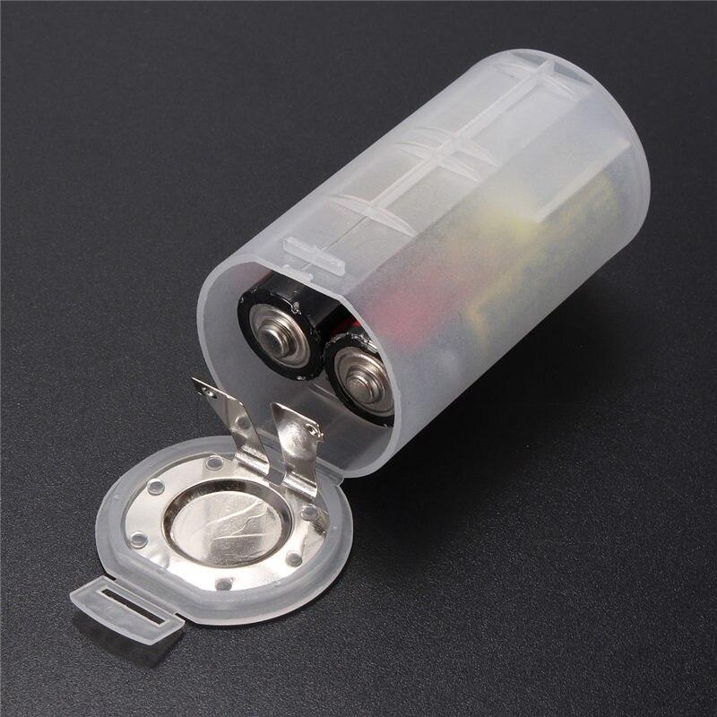 Адаптер для конвертации аккумуляторов, 1 шт., 2 AA в D размера, белый корпус конвертера, оптовая цена, маленький размер