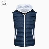 Fur Vest Men Vest Sleeveless Jackets Manteau Homme Warm Autumn Waistcoat Winter Hooded Cotton Padded Mens