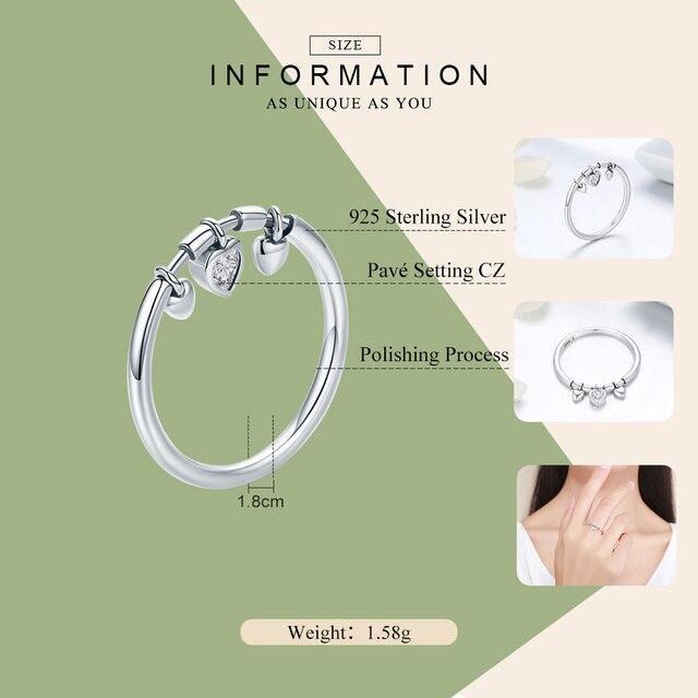 Clear CZ Glittering Heart Ring2
