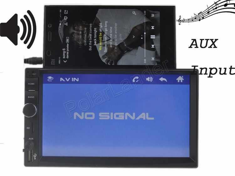 7 ''ユニバーサル 2 Din 1080HD Bluetooth カーラジオ MP4 MP5 プレーヤーステレオ USB/TF/FM/Aux ステアリングリモコンミラーリンク