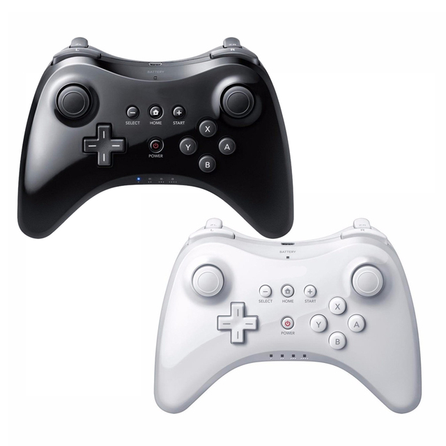 Para Nintend Para Wii U Controller Pro Clássico USB Analógico Dual Bluetooth Controle Remoto Sem Fio Para WiiU Pro U Gamepad