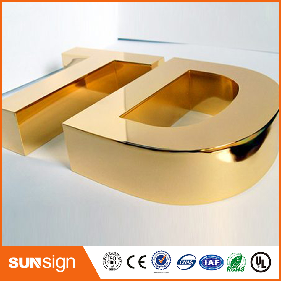 Metal Letter 3D Sign Front Channel Letter Signage