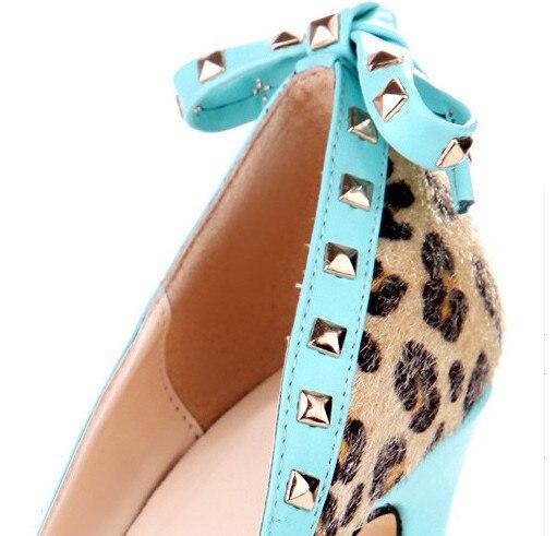 11 Talons Léopard Chaussures Livraison Suede Mode Cm Hauts Multi 43 Taille À 5 Gratuite Cloutés Belle 35 xtPYqzwA5