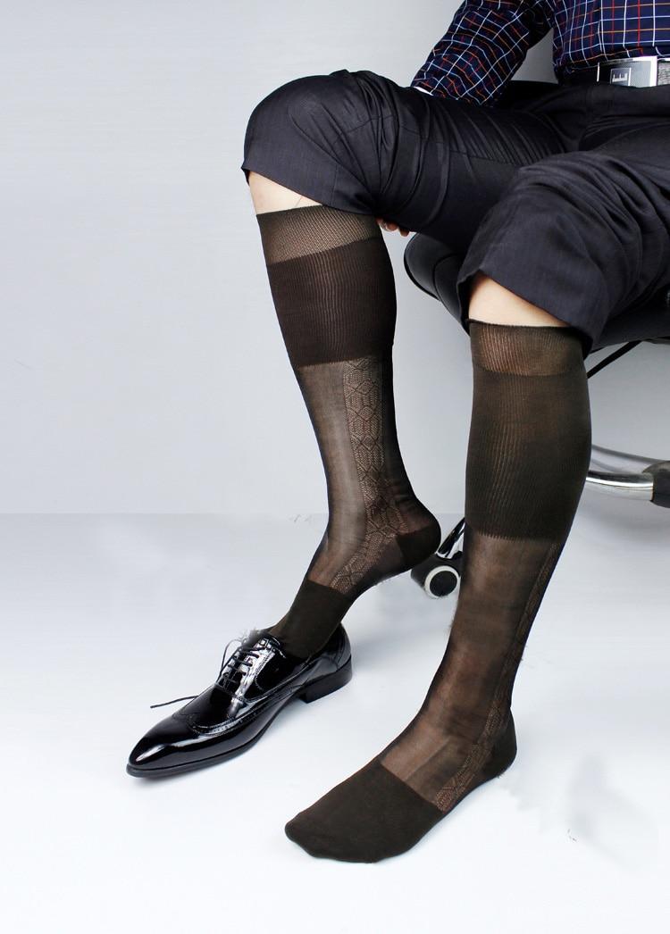 selezione migliore colori armoniosi miglior prezzo per Maschio calze di seta curva sovrapposizione nylon calze di ...