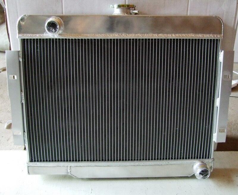 aluminum cooling radiator for Jeep CJ,CJ5,CJ7 V8 Conversio 1972-1986 AT//MT