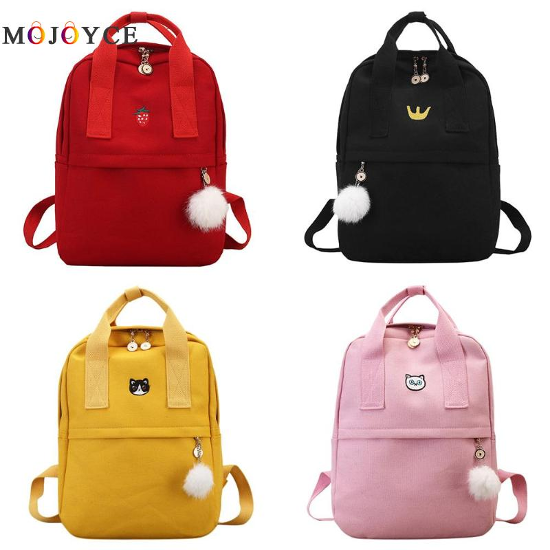 e40726d034 Preppy Style Women Girls Canvas Backpack Teen Vintage Casual Shoulder School  Backpack korean style Rucksack Mochila Feminina -in Backpacks from Luggage  ...