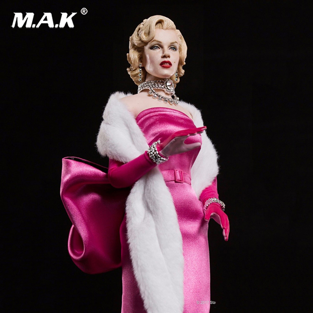 Full set action figure SA0015 Marilyn Monroe Pink Dress Collectable Action Figure Toy Collectible Action Figure Doll the toy story pink pig hamm action figure toy doll