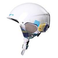 2018 Germany TUV Rheinland CE Skiing Helmet ABS EPS Velour Inner Pad Integrated Man Safety Ski Skiboad Skating Wear Helmets