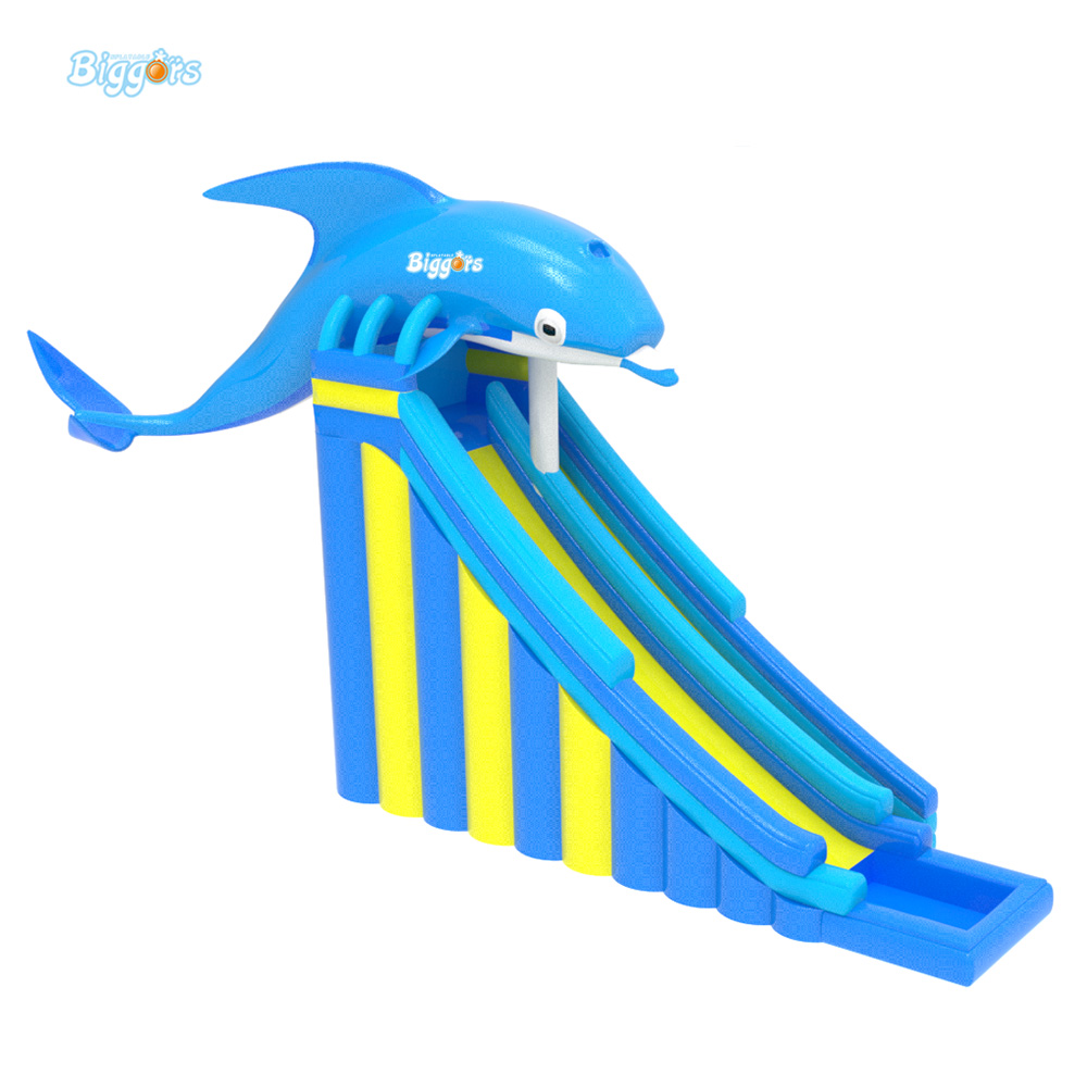 Inflatable BIGGORS Commercial Use Inflatable Slide Bouncy Castle Inflatable Dolphin Slide For Outdoor Fun 6 4 4m bounce house combo pool and slide used commercial bounce houses for sale