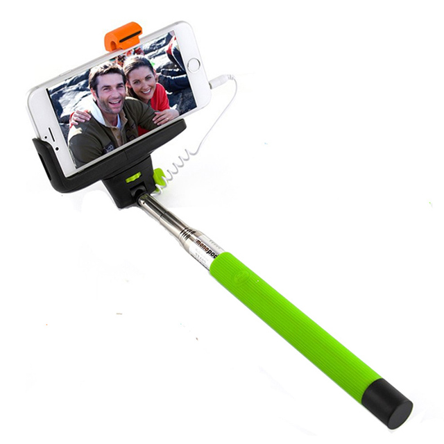 Z07 7 Audio Cable Wired Selfie Stick Extendable Monopod Self Stick for iPhone 7 6 plus 5 5s 4s IOS Samsung Android