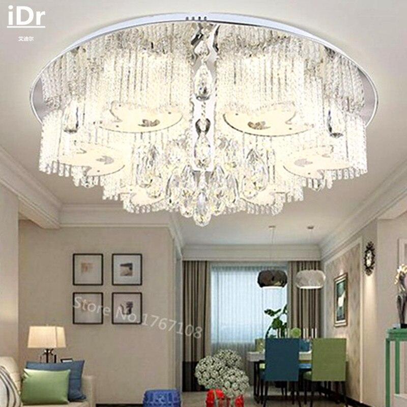 Niederspannungs Lichter Flache Kristall Lampe Schlafzimmer Wohnzimmer Dimmen Versprechen Deckenleuchten Rmy