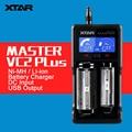 XTAR originais VC2 MASTER Plus 2 Slots 1A de Corrente Inteligente Banco Do Poder USB Carregador de Bateria para 18650 com Display LCD função