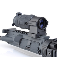 WIPSON Tactical Gun Holographic Rifle Scope AP Style 3X Magnifier With QD Twist RIS Weaver Mount