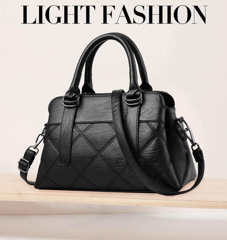 Women Bag 2019 New Women Messenger Bags Fashion Pu Leather Shoulder Bags Handbags Famous Brands, Big Crossbody Bags For Women 9