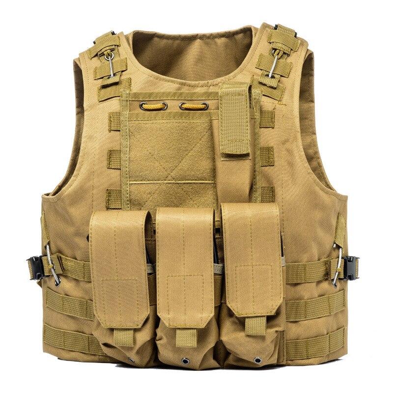 HYBON Security Military Tactical Vest For Hunting Airsoft Molle Tactical Vest Adjustable Assault Plate Carrier CS Shoulder Strap