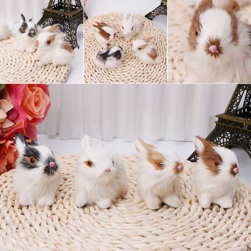 Simulation toy mini rabbit models home decoration wedding birthday gift dolls