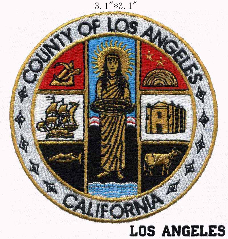 County of los angeles california seal embroidery patch