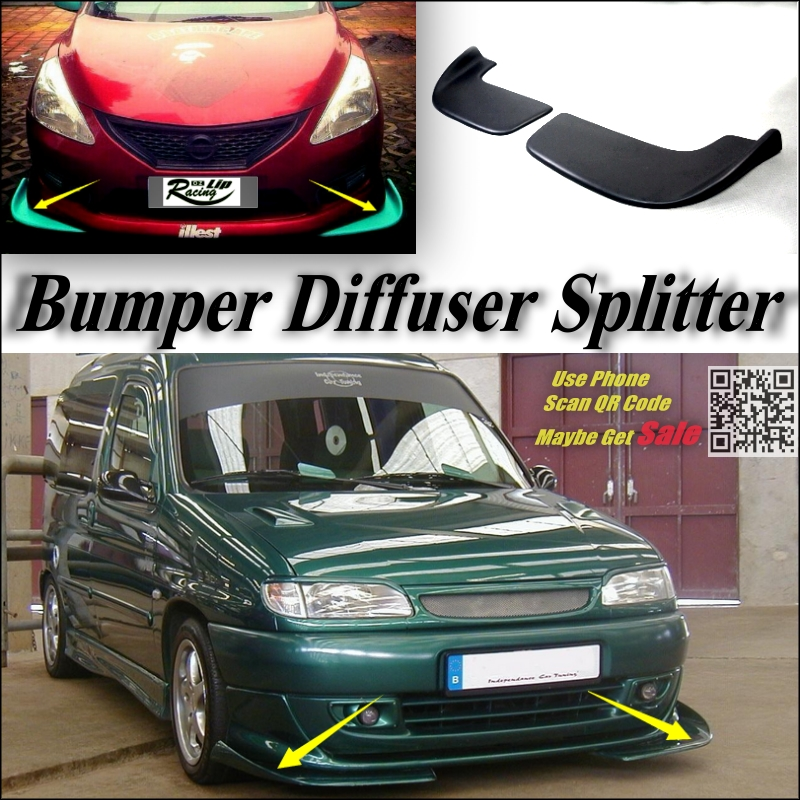 car splitter diffuser bumper canard lip for citroen. Black Bedroom Furniture Sets. Home Design Ideas