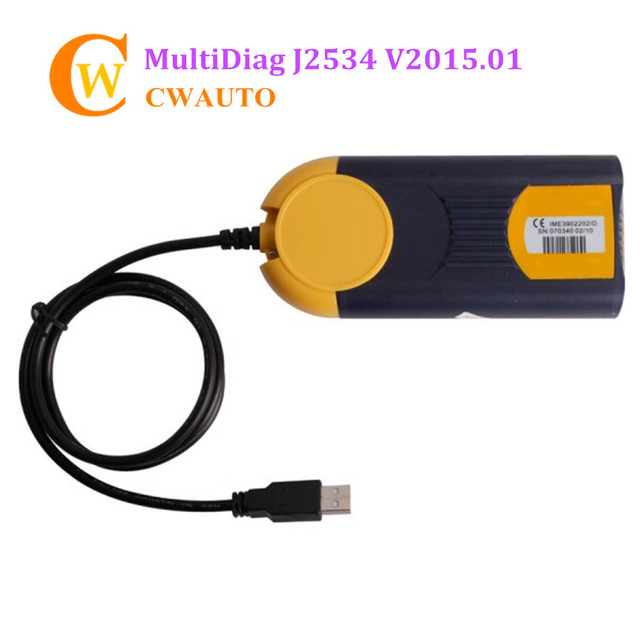 New I-2015 Multi-Diag Access J2534 Pass-Thru OBD2 Device Multi-languages Ideal For Independent Workshops For A Wide Vehicles