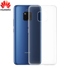 Original Huawei Mate 20 Pro soft TPU back case cover Huawei Mate20 Pro Transparent shockproof protection funda Phone capa case(China)