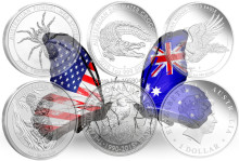Free shipping Mix 50pcs/lot,2015 Australian 1Oz Silver Coin