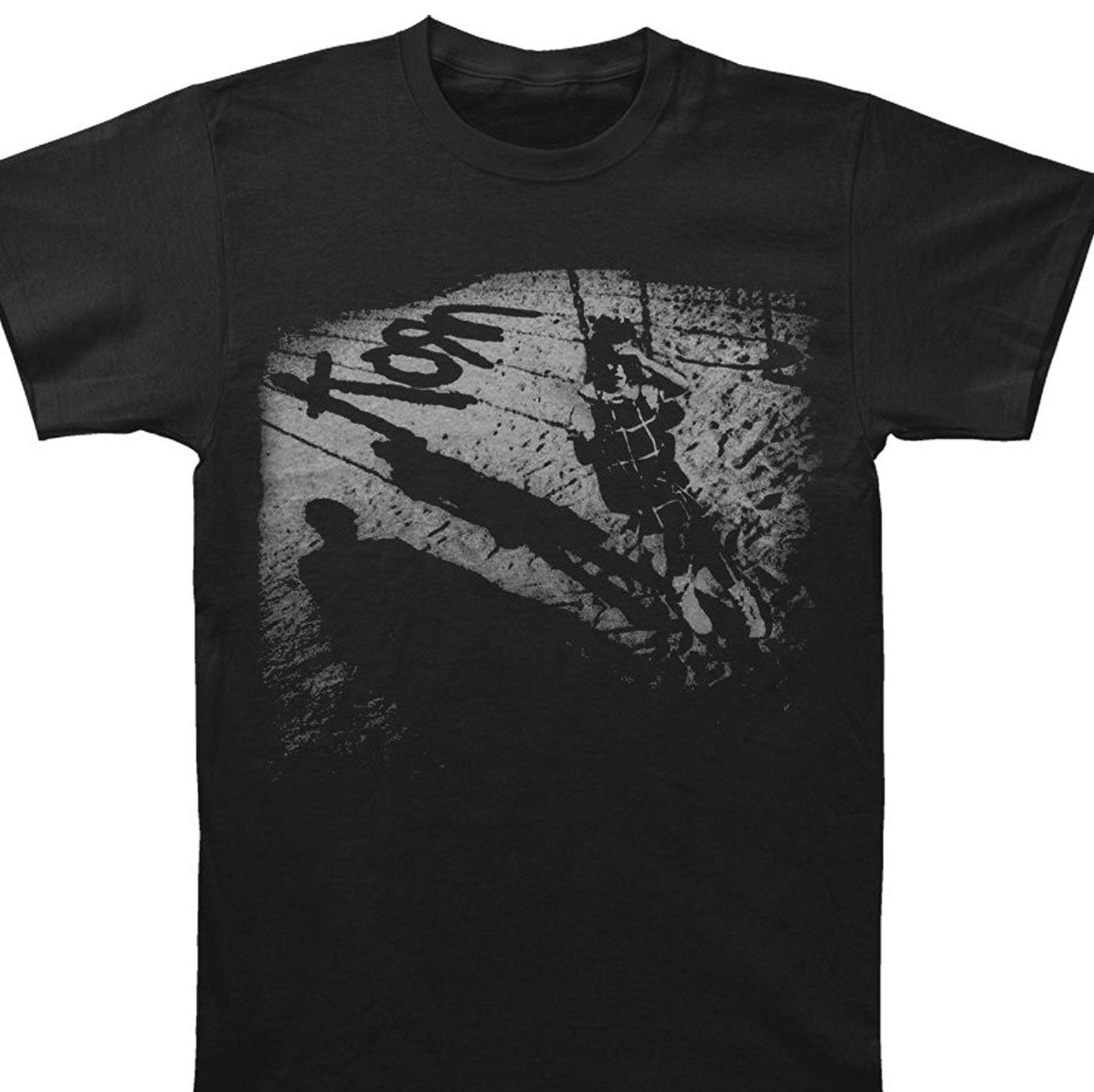 Tee Shirt Hipster Harajuku Brand Clothing T Shirt Korn Men'S Sandbox Tee T Shirt Black