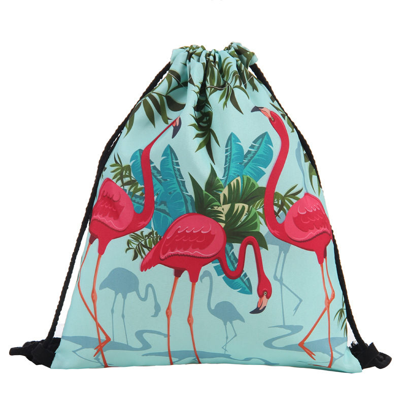 New Fashion Women Unicorn Backpack 3D Printing Travel Softback Women Mochila Drawstring Bag Mens Backpacks