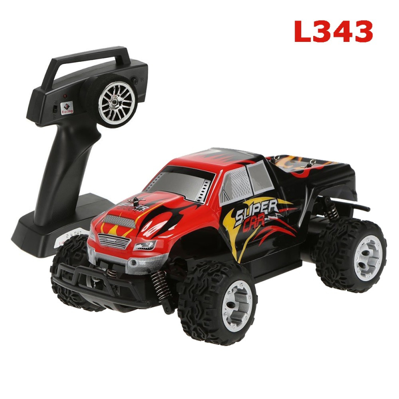 RC Car L343 1/24 2.4G Electric Brushed 2WD RC Monster Truck RTR Electric Powered Climber Off-road RC Car Toys remote control car