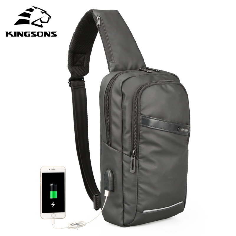Kingsons Men Chest Bag In Men's Crossbady Bags Single Shoulder Strap Back Pack Business Travel Casual Bags