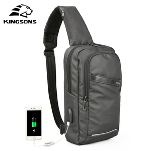 Image 2 - Kingsons New 10 Chest Bag High quality Crossbady Bags Single Shoulder Strap Back pack Business Travel Casual Bags Hot Sale