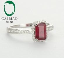 14ct White Gold Blood Ruby & Naturald Diamond Ring Jewelry Settings, Wholesaler Jewelry, 14k Gold Ring