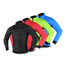 4 Colors Reflective Thermal Cycling Jacket Winter Warm Up Fleece Bicycle Clothing Windproof Waterproof Sports MTB Bike Coat wosawe winter cycling jacket fleece thermal warm up bicycle clothing windproof windbreaker water resistance reflective jacket