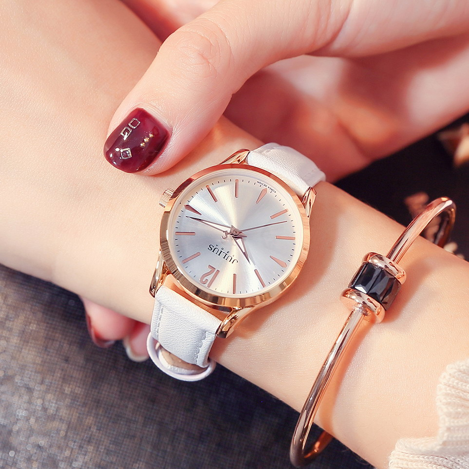JULIUS 2018 Brand Luxury Women Watches Bracelet Leather Ladies Quartz Watch Fashion Casual Female Gold Clock Relogio Feminino duoya fashion luxury women gold watches casual bracelet wristwatch fabric rhinestone strap quartz ladies wrist watch clock