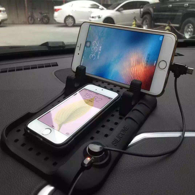 CHIZIYO New Design Multi functional Magnetic Charge Of Silicone Anti Slip Mat Car Navigation Mobile Phone USB Charger
