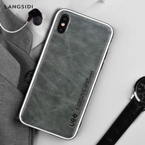 Image 3 - Echtes Leder für iphone 7 fall fashion Business telefon fall für iPhone 8plus X XS einfarbig Schock widerstand schutzhülle