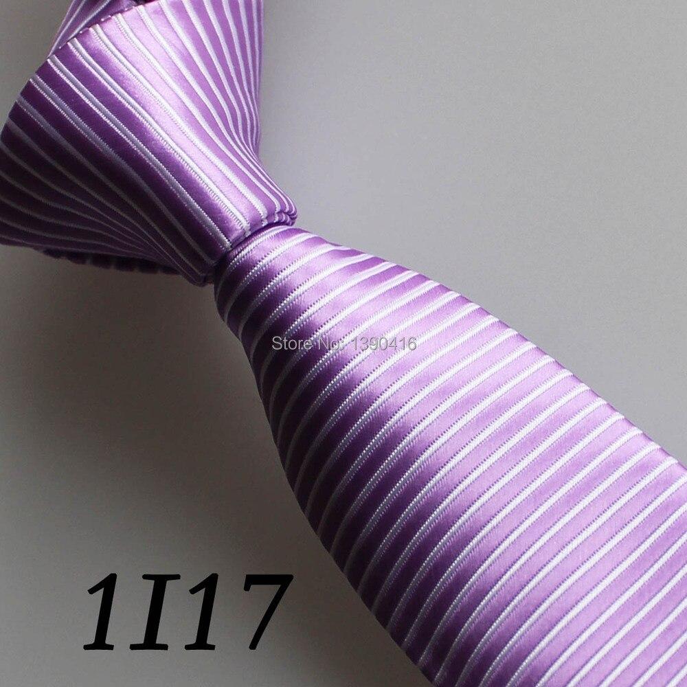 2018 Latest Style Neck Ties Border Purple/White Straight Striped Design/Fashion/Moda/Casual Dress/Groom Bestman Necktie For Men