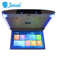 Fansel 17.3 Inch Android 6.0 Car Monitor Ceiling Mount Roof 1080P Video IPS Screen WIFI/HDMI/USB/SD/FM/Bluetooth/Speaker/Game
