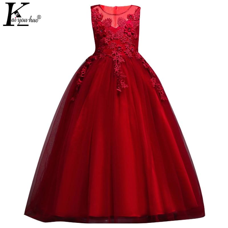Літнє весільне плаття 2018 Vestidos Дитячі сукні для дівчаток одяг вишита сукня принцеси 3 4 5 6 7 8 9 10 11 12 13 14 років