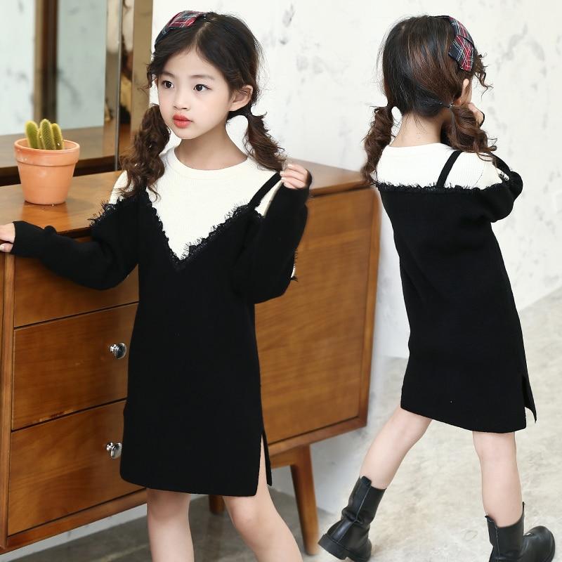 5 6 7 8 9 10 11 12 13 ans filles tenue décontractée automne pull enfants robes adolescents bébé fille robes élégantes enfants vêtements