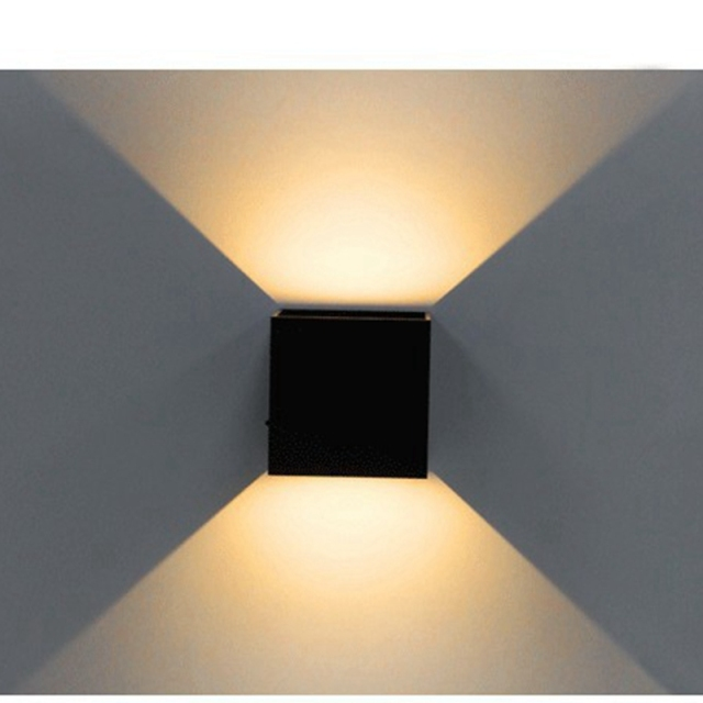 LED Wall Light Modern Cube Sconce Direction Adjustable Mounted Lamp Waterproof For Loft