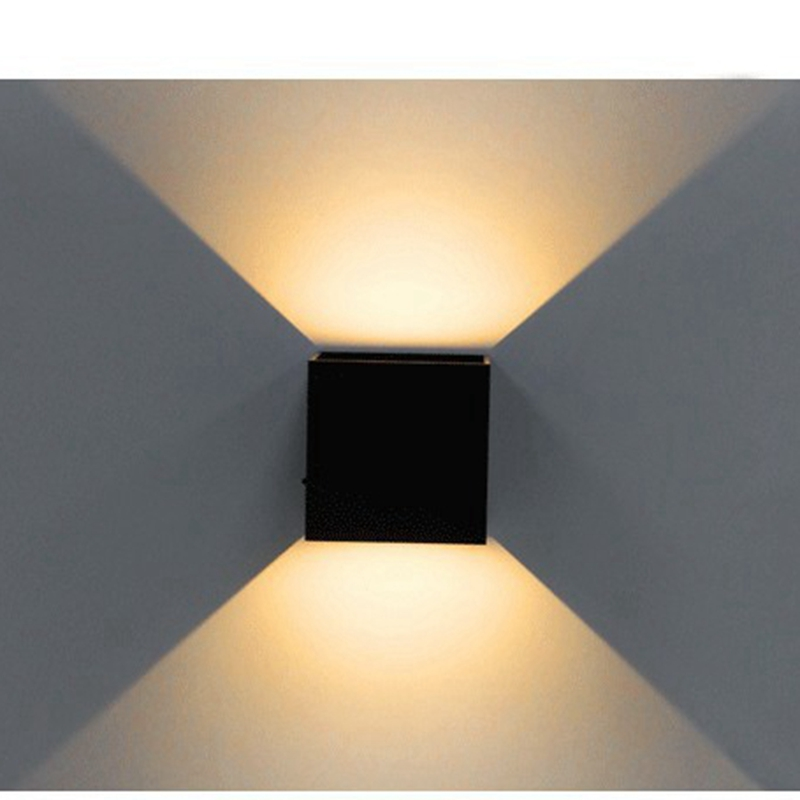 LED Wall Light, Modern Cube Wall Sconce Direction Adjustable Wall Mounted Lamp Waterproof for Loft Outdoor Indoor Home Decor