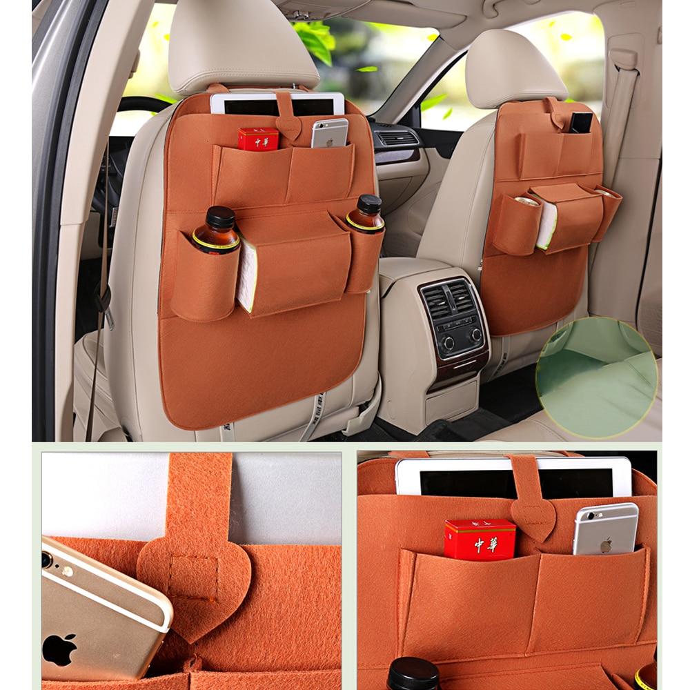 Car Backseat Bag Magazine Organizer Pocket Car Interior Accessories Travel Bag Stowing Tidying Bags Car styling